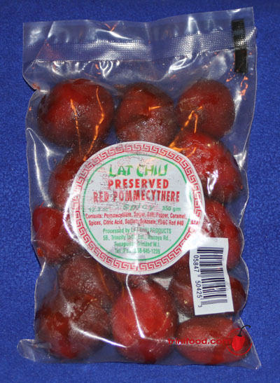 Lat Chiu Spicy Preserved Red Pommecythere